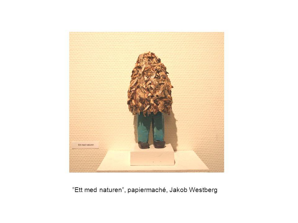 Ett med naturen , papiermaché, Jakob Westberg