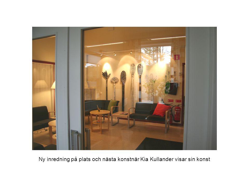 Ny inredning på plats och nästa konstnär Kia Kullander visar sin konst