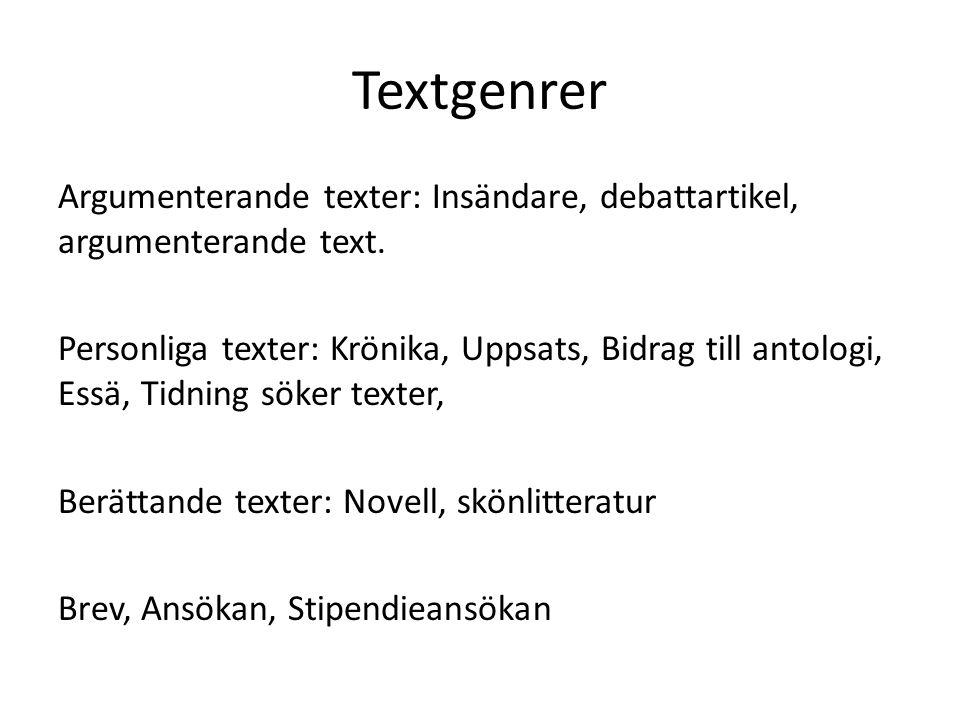 Textgenrer