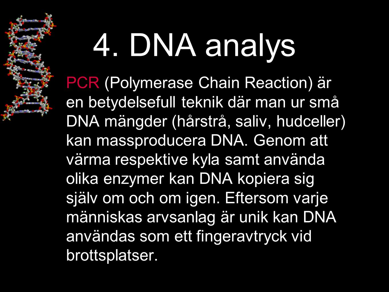 4. DNA analys