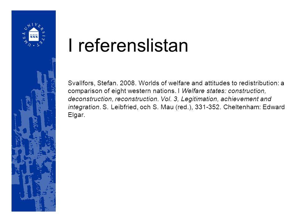 I referenslistan