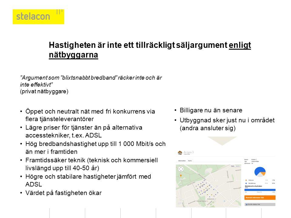 Hastigheten är inte ett tillräckligt säljargument enligt nätbyggarna