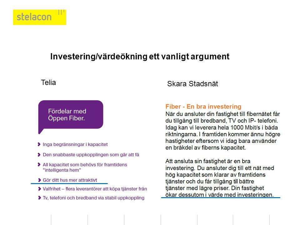 Investering/värdeökning ett vanligt argument