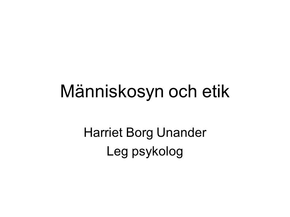 Harriet Borg Unander Leg psykolog