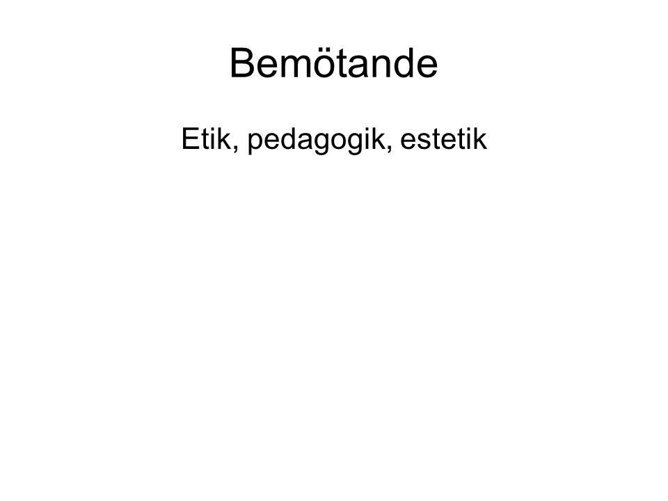 Etik, pedagogik, estetik