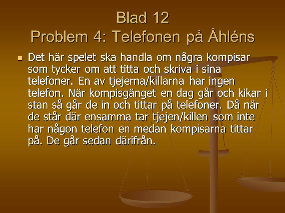 Blad 12 Problem 4: Telefonen på Åhléns