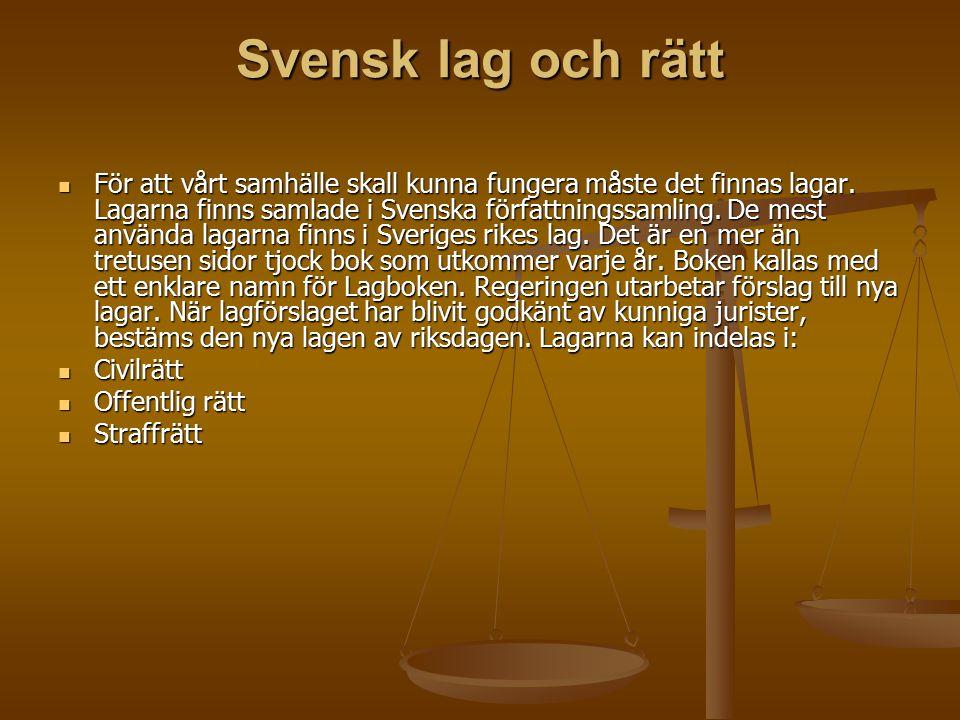 Svensk lag och rätt