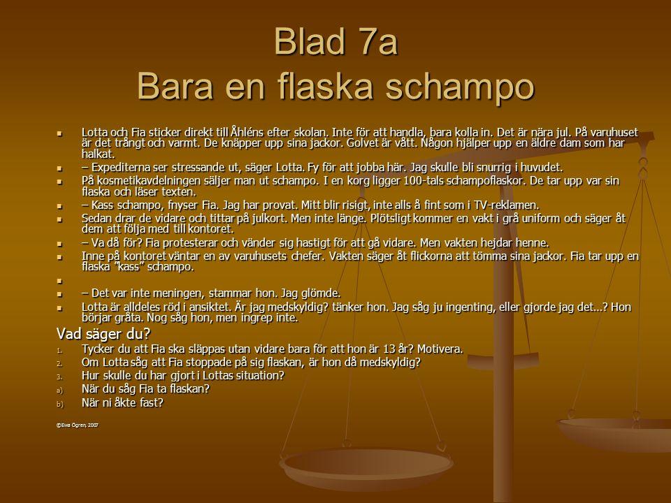Blad 7a Bara en flaska schampo