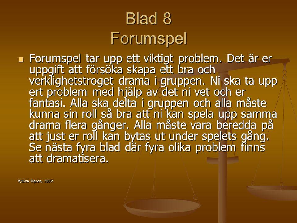 Blad 8 Forumspel
