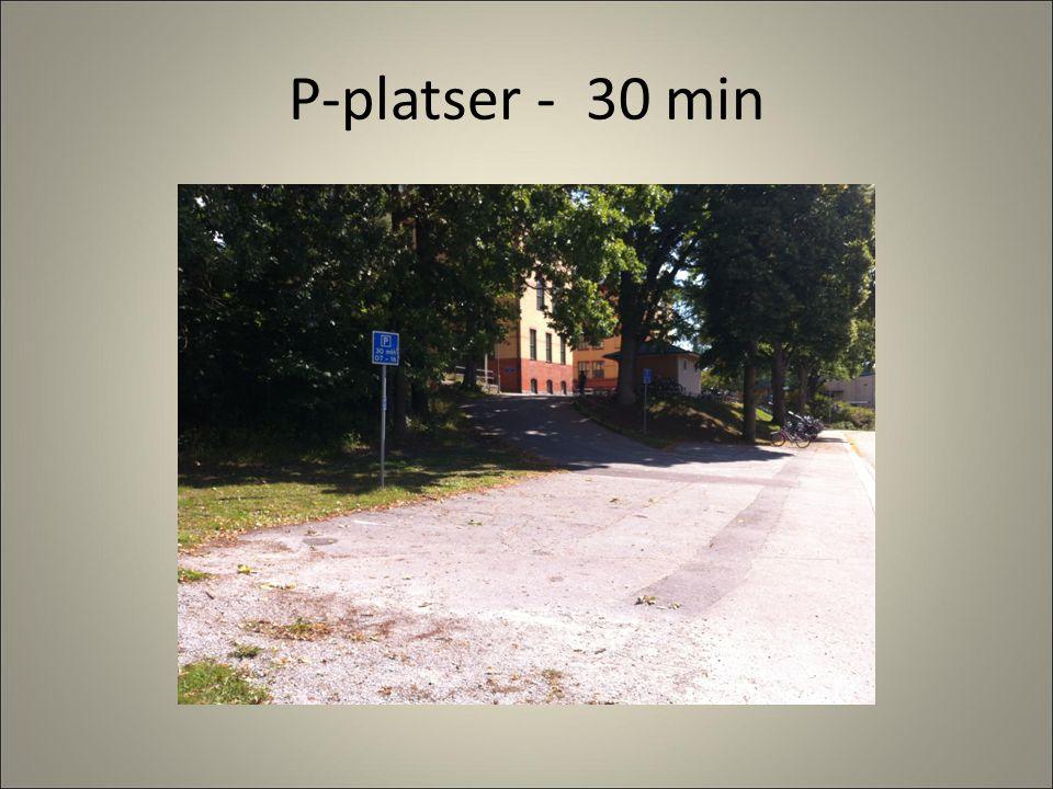 P-platser - 30 min