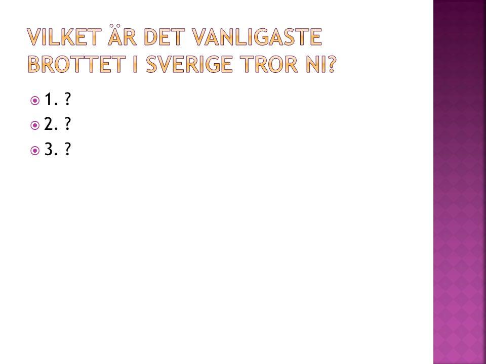 Vilket är det vanligaste brottet i Sverige tror ni