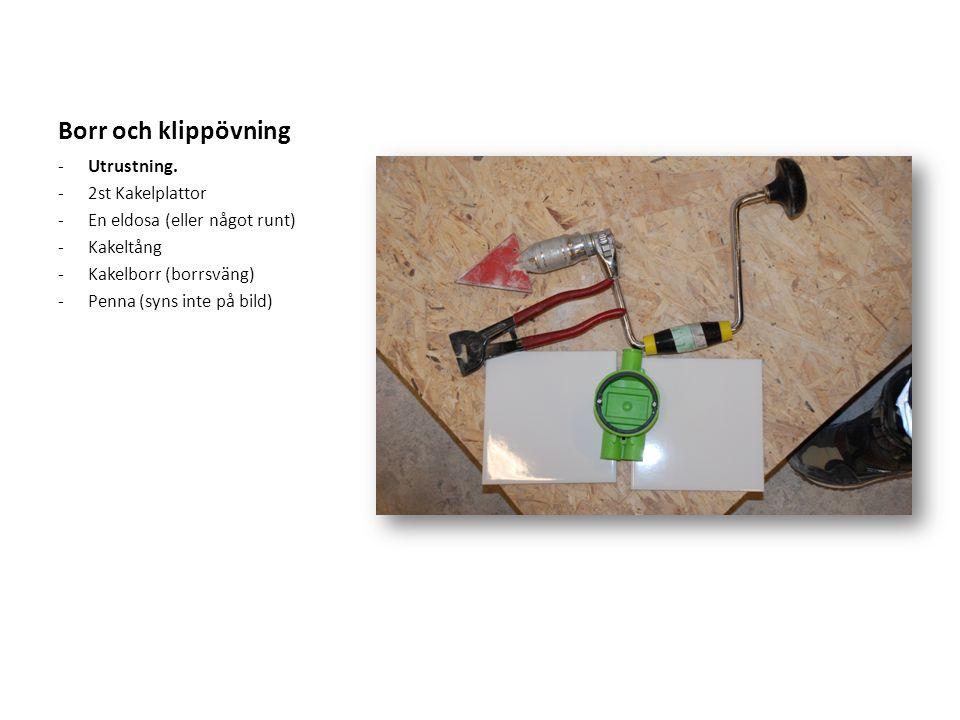 Borr och klippövning Utrustning. 2st Kakelplattor