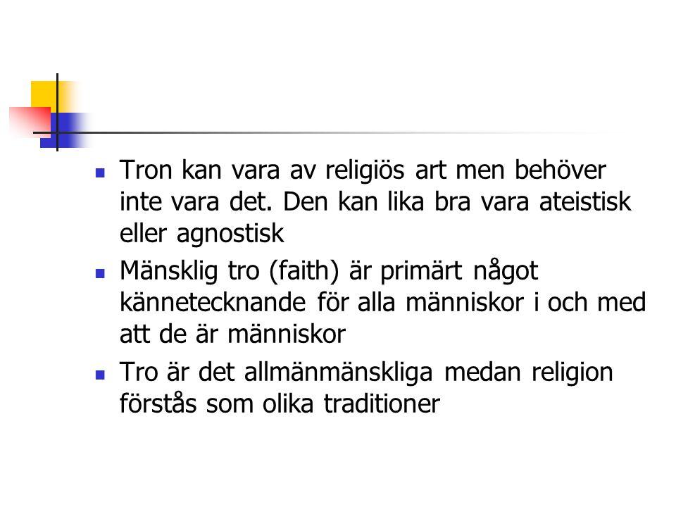 Tron kan vara av religiös art men behöver inte vara det