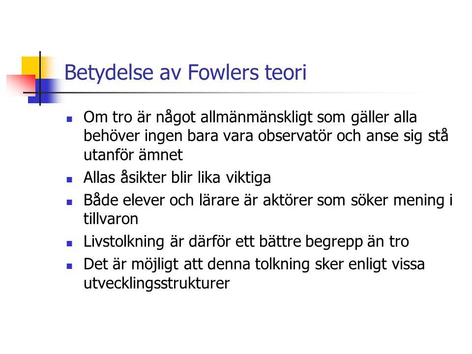 Betydelse av Fowlers teori