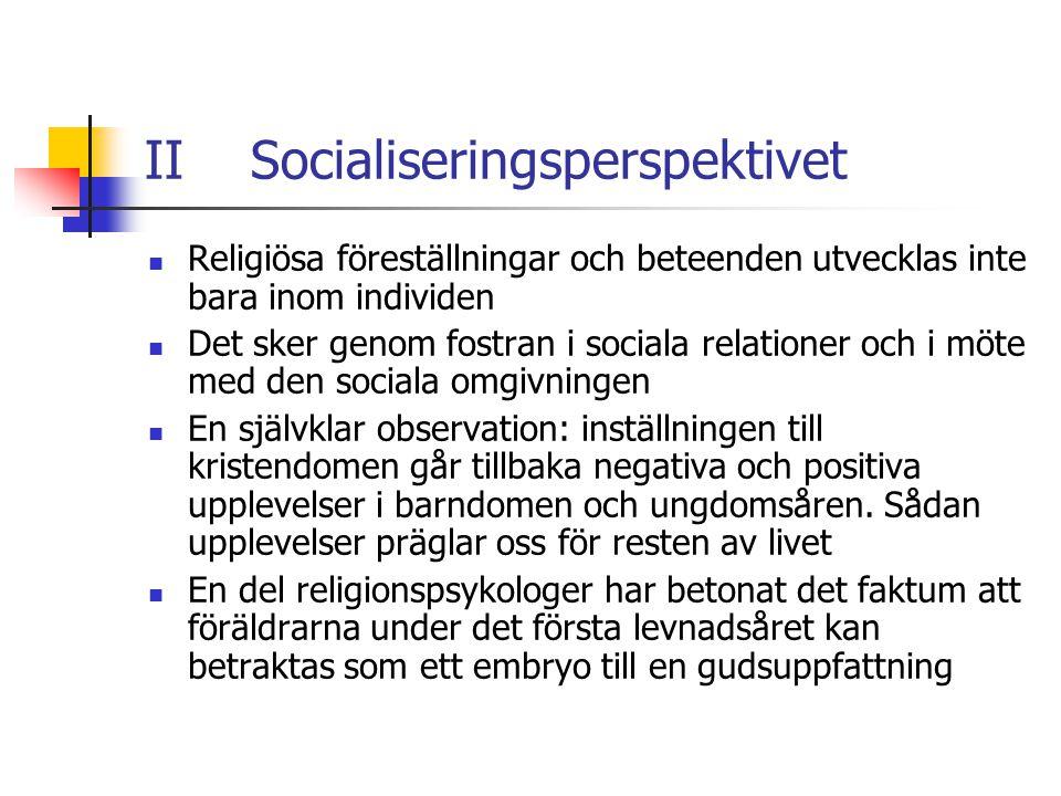 II Socialiseringsperspektivet