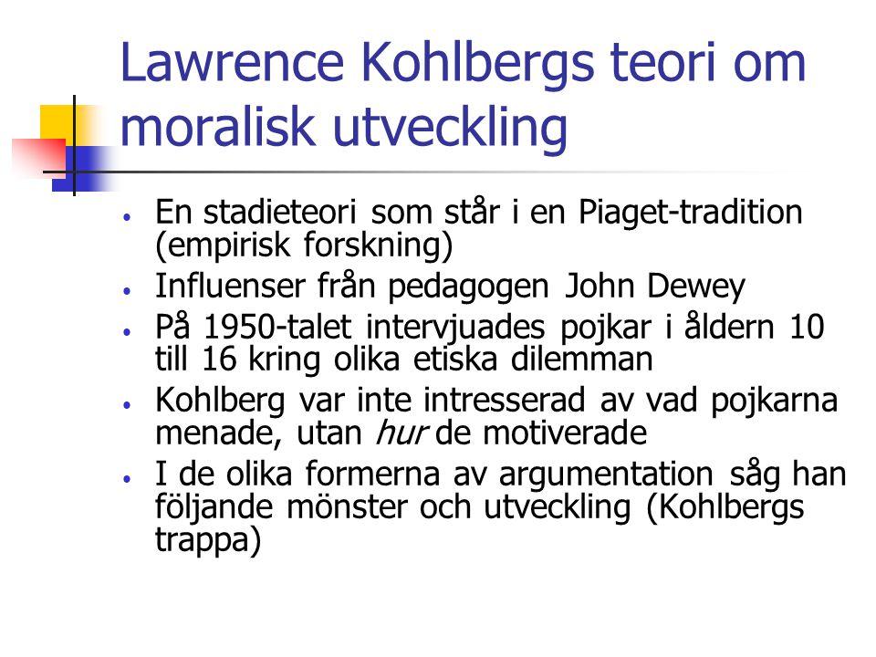 Lawrence Kohlbergs teori om moralisk utveckling