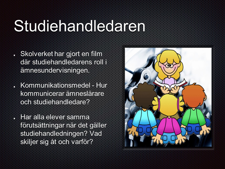 Studiehandledaren Skolverket har gjort en film där studiehandledarens roll i ämnesundervisningen.