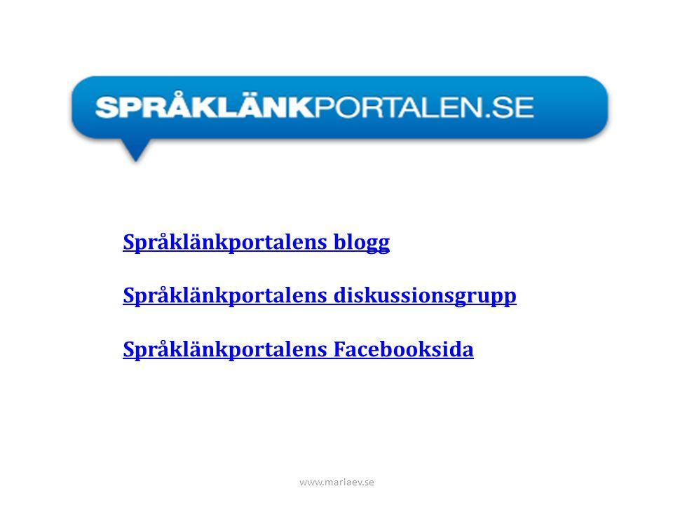 Språklänkportalens blogg Språklänkportalens diskussionsgrupp