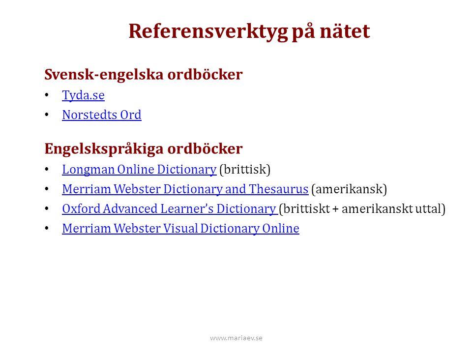 Referensverktyg på nätet