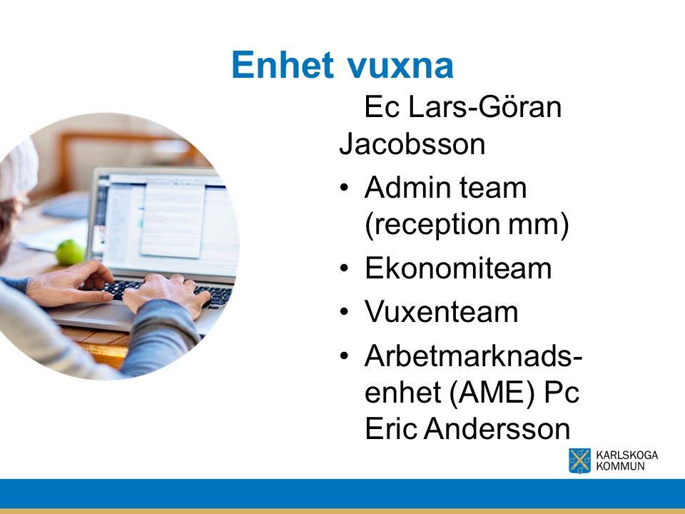 Enhet vuxna Ec Lars-Göran Jacobsson Admin team (reception mm)