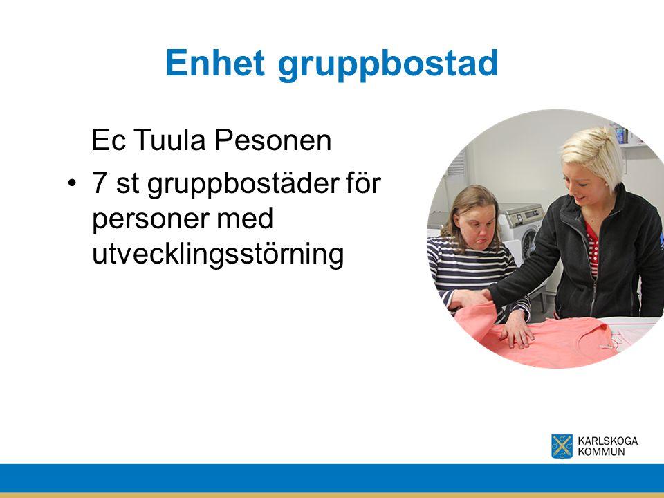 Enhet gruppbostad Ec Tuula Pesonen