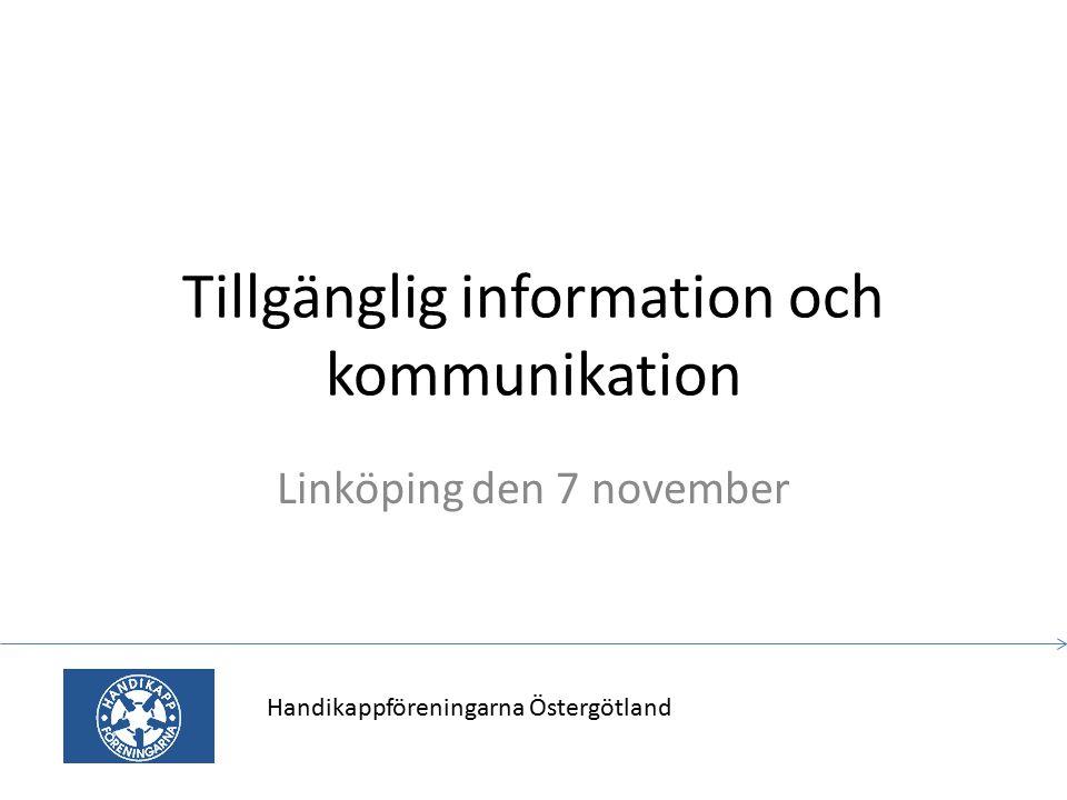 Tillgänglig information och kommunikation