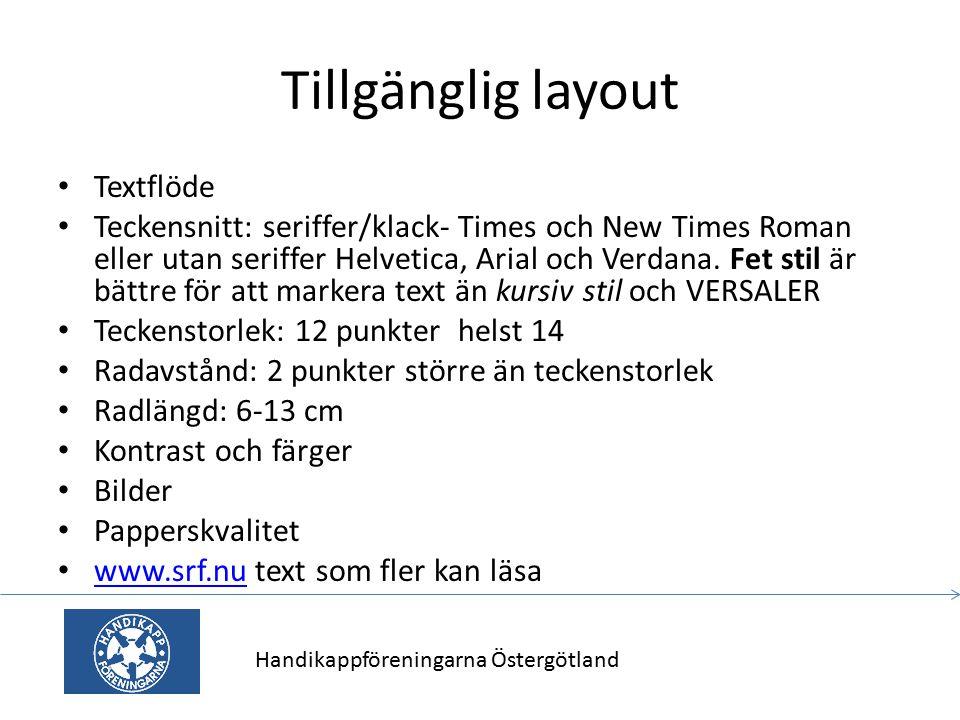 Tillgänglig layout Textflöde