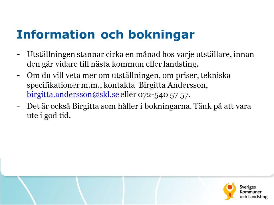 Information och bokningar