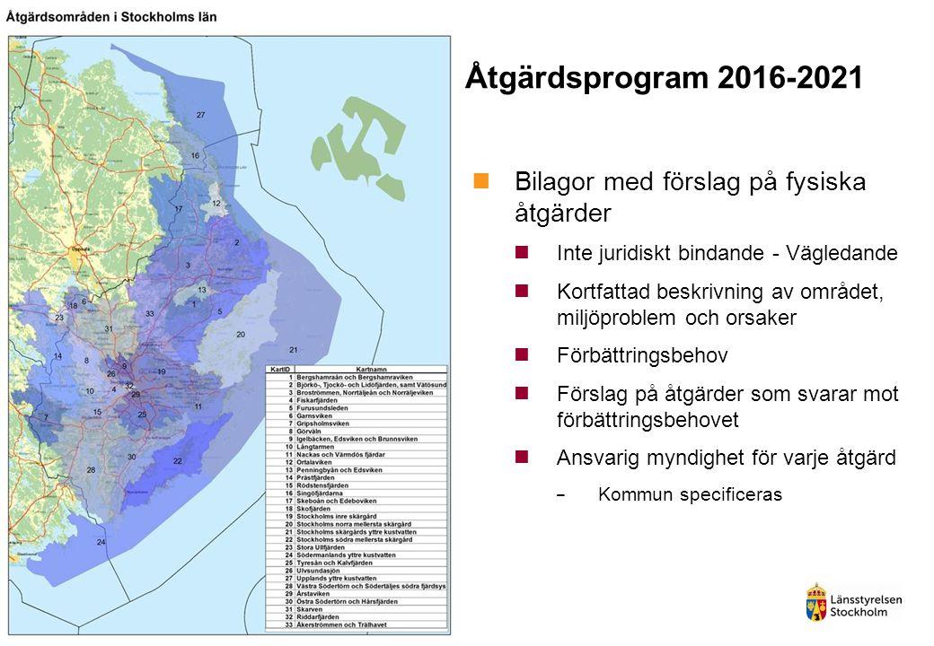 Åtgärdsprogram 2016-2021 Bilagor med förslag på fysiska åtgärder