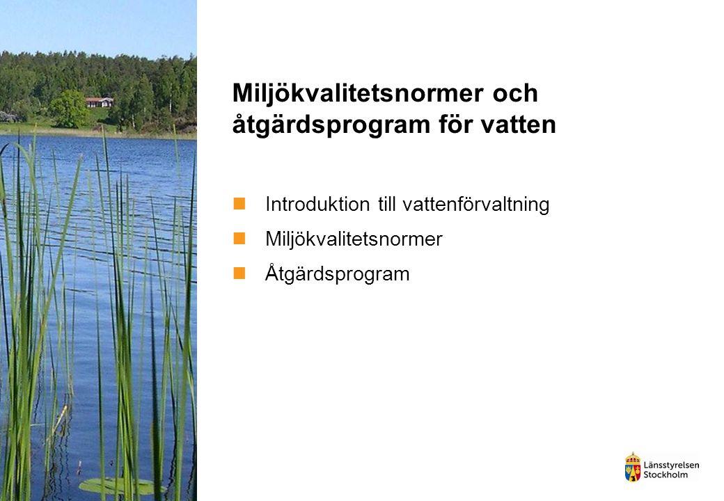 Miljökvalitetsnormer och åtgärdsprogram för vatten