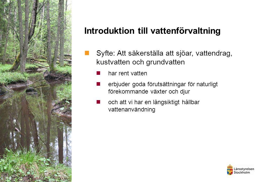 Introduktion till vattenförvaltning