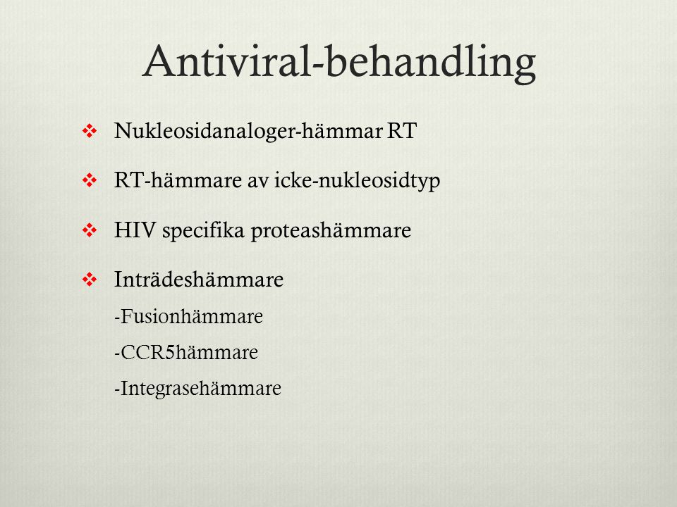 Antiviral-behandling