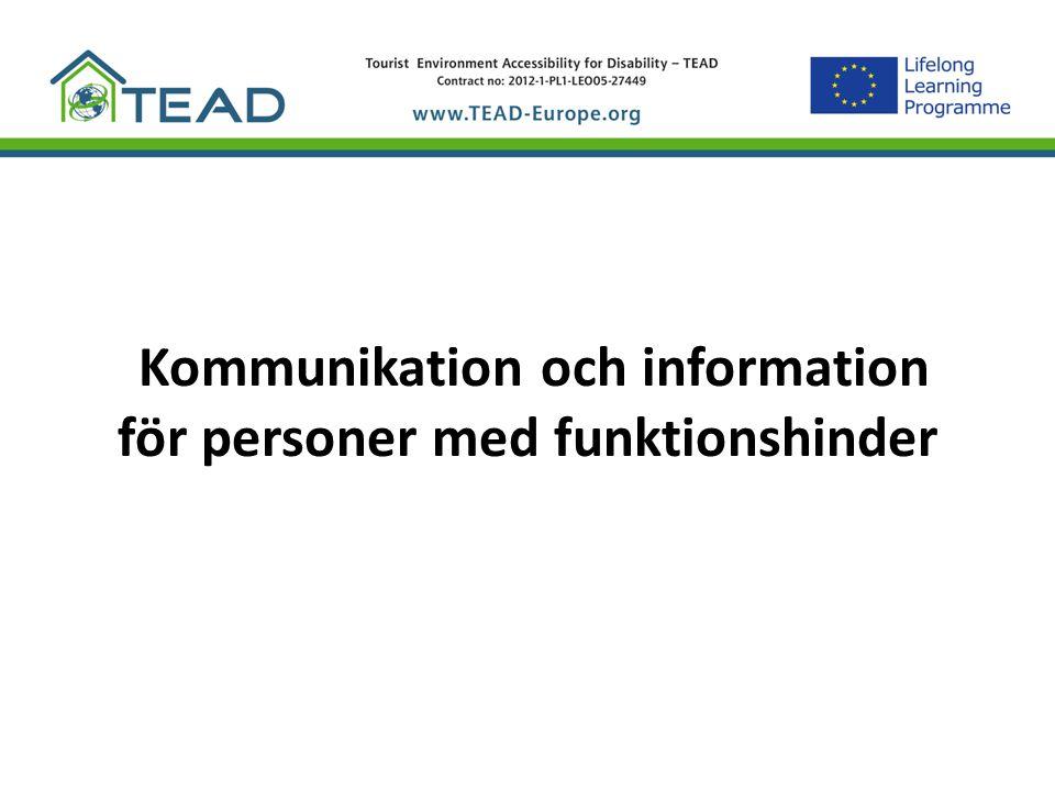 Kommunikation och information för personer med funktionshinder