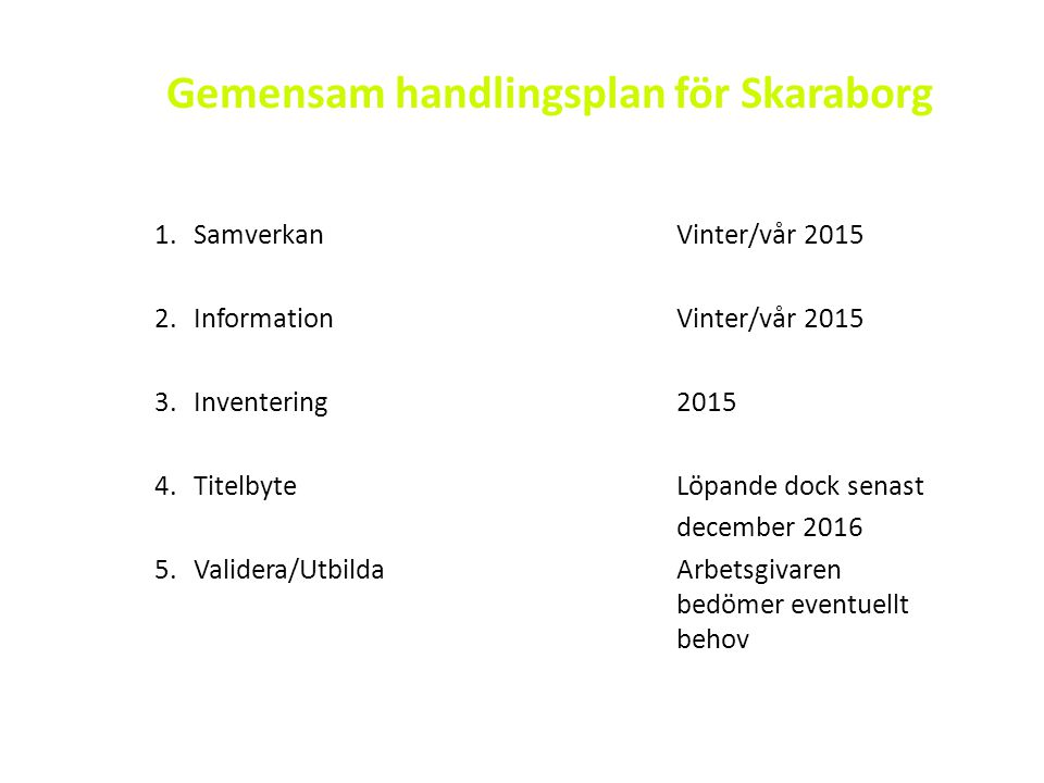 Gemensam handlingsplan för Skaraborg