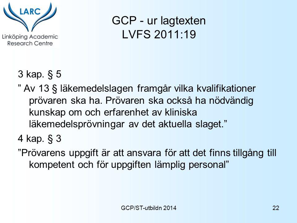GCP - ur lagtexten LVFS 2011:19