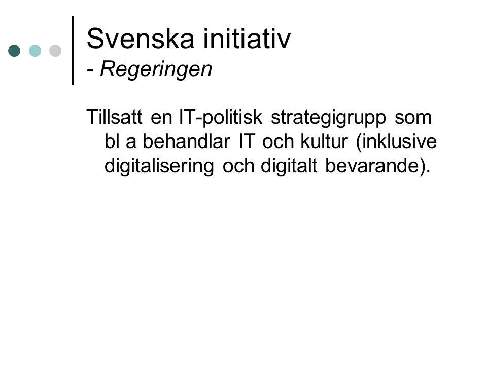 Svenska initiativ - Regeringen