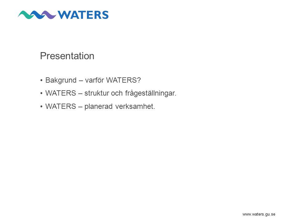 Presentation Bakgrund – varför WATERS