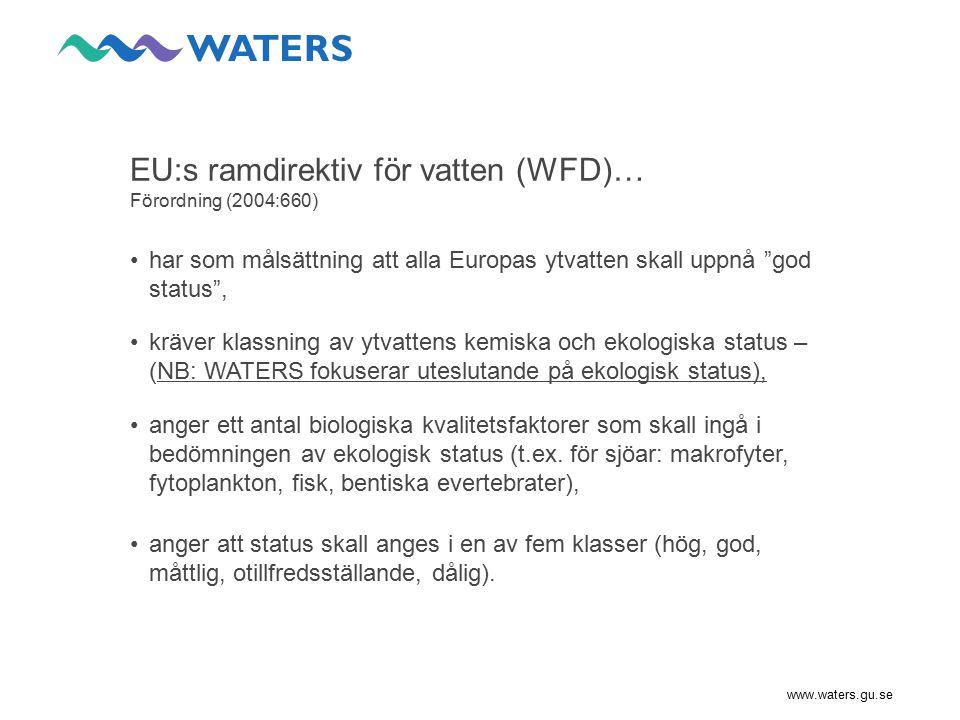 EU:s ramdirektiv för vatten (WFD)… Förordning (2004:660)