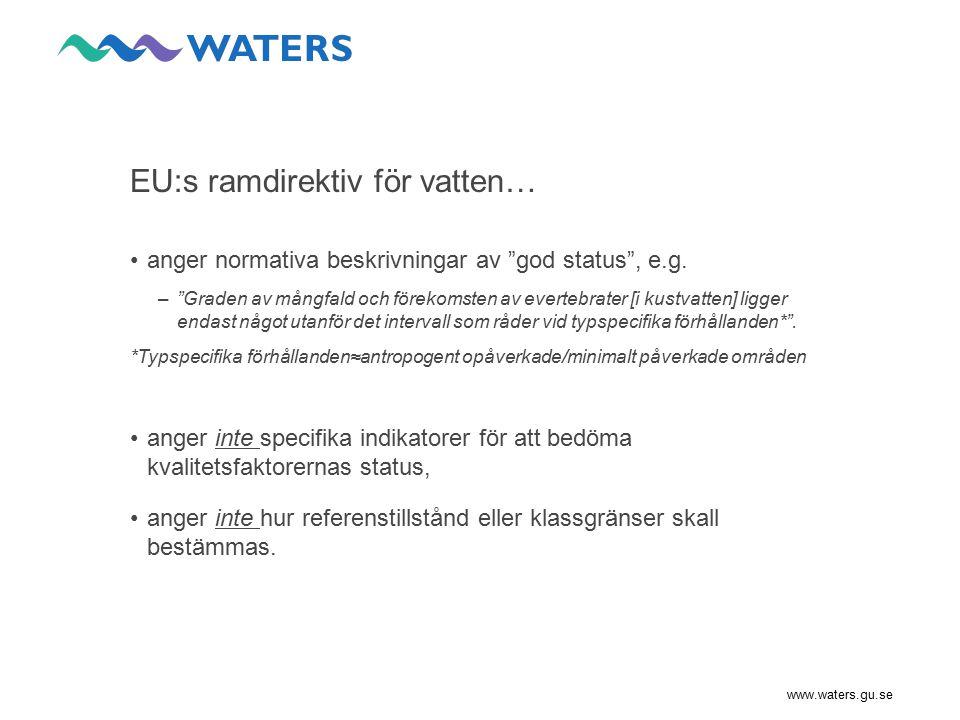 EU:s ramdirektiv för vatten…
