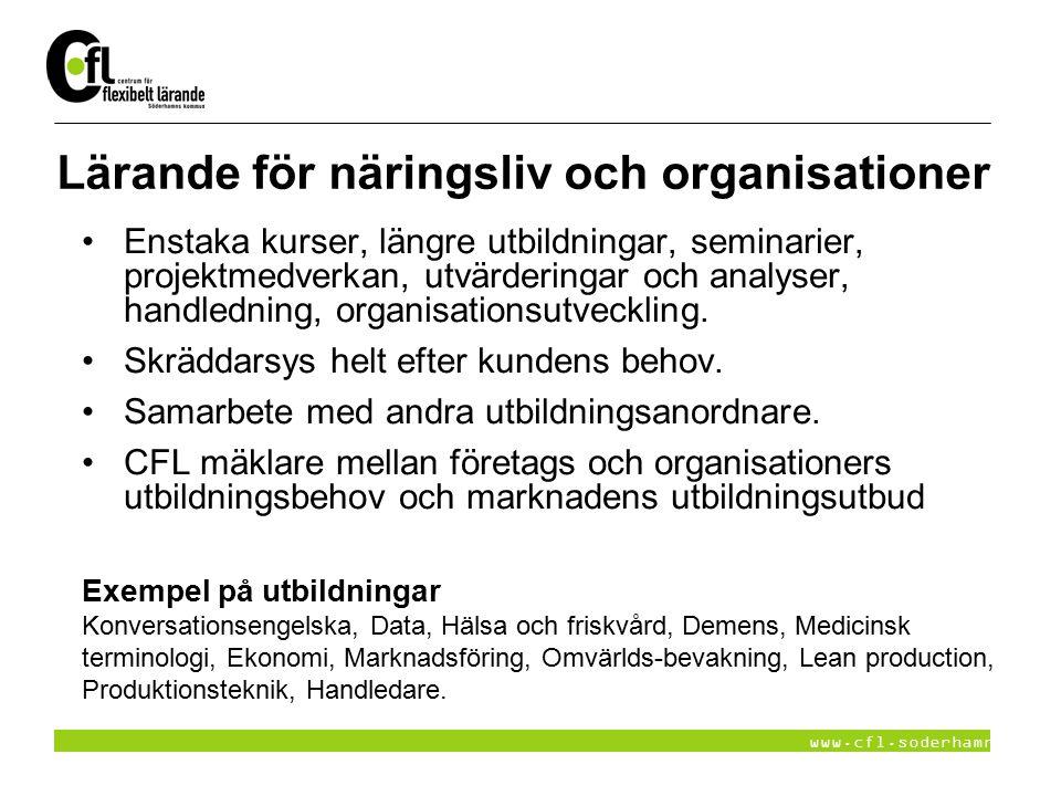 Lärande för näringsliv och organisationer