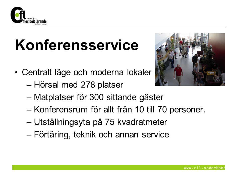 Konferensservice Centralt läge och moderna lokaler