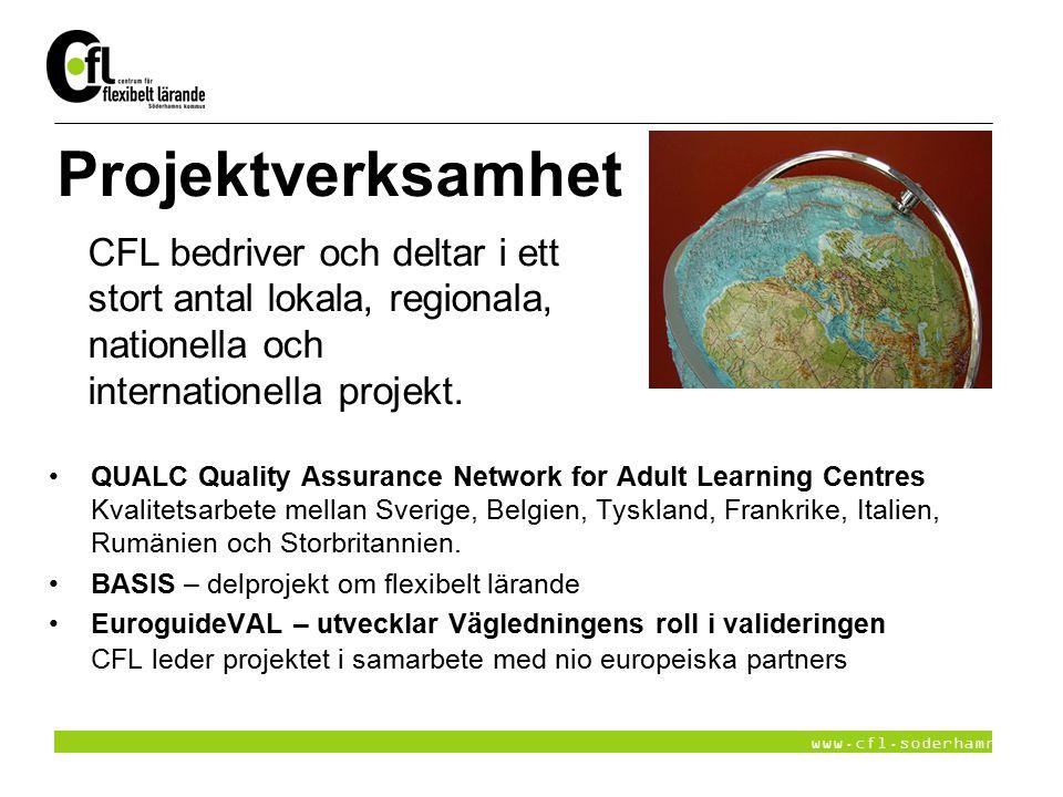 Projektverksamhet CFL bedriver och deltar i ett stort antal lokala, regionala, nationella och internationella projekt.