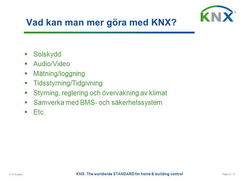 Vad kan man mer göra med KNX
