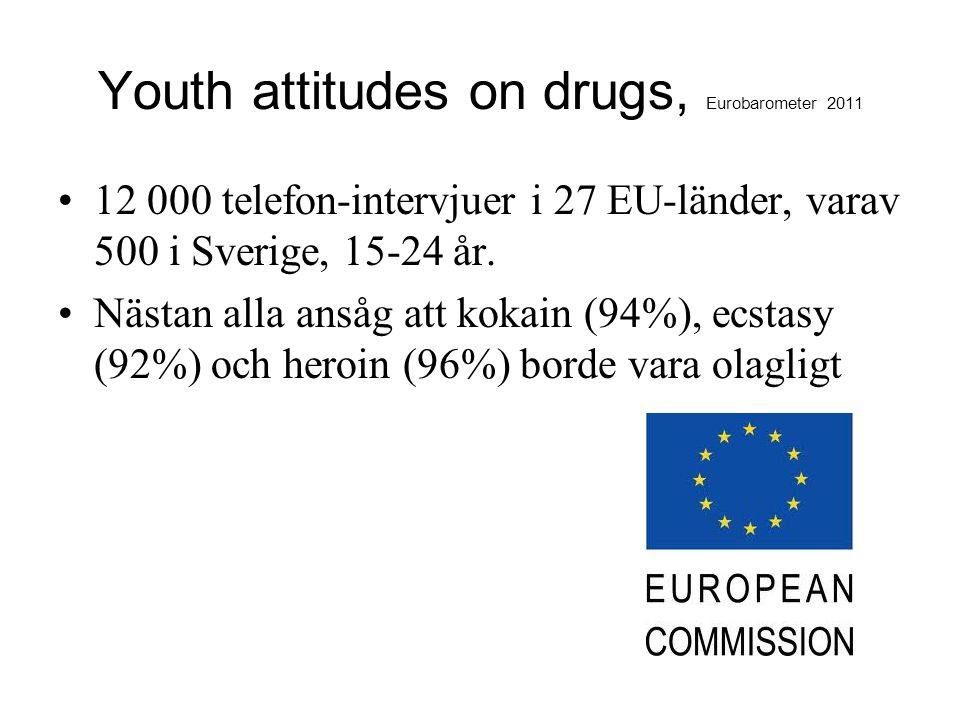 Youth attitudes on drugs, Eurobarometer 2011