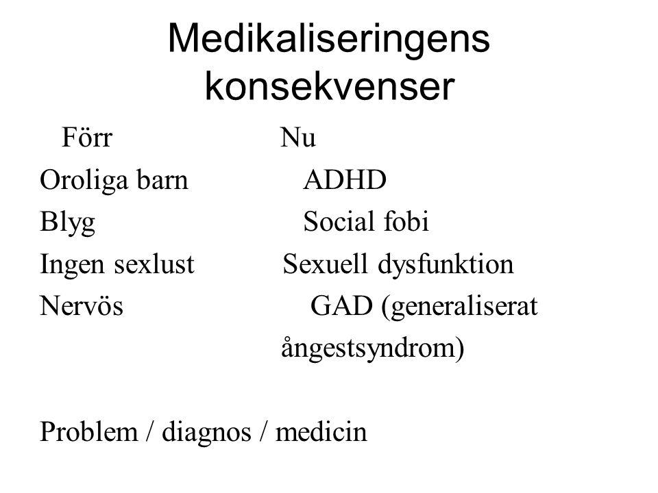 Medikaliseringens konsekvenser