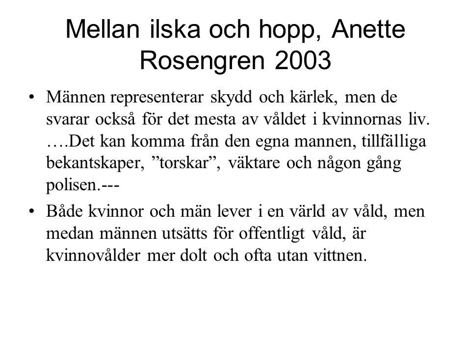 Mellan ilska och hopp, Anette Rosengren 2003