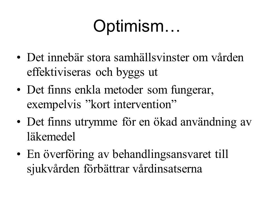 Optimism… Det innebär stora samhällsvinster om vården effektiviseras och byggs ut.