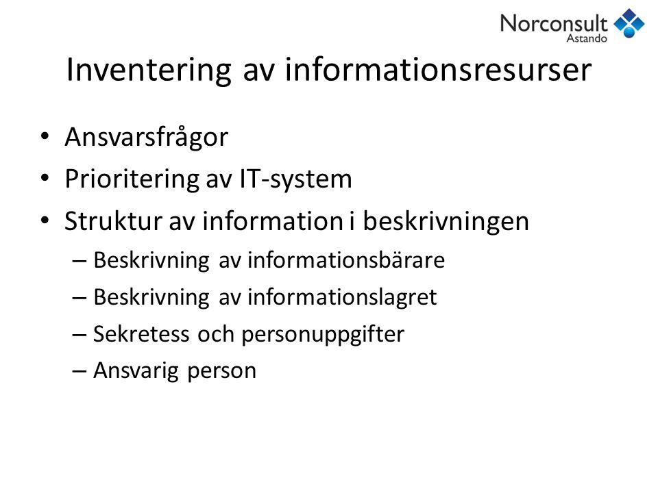 Inventering av informationsresurser