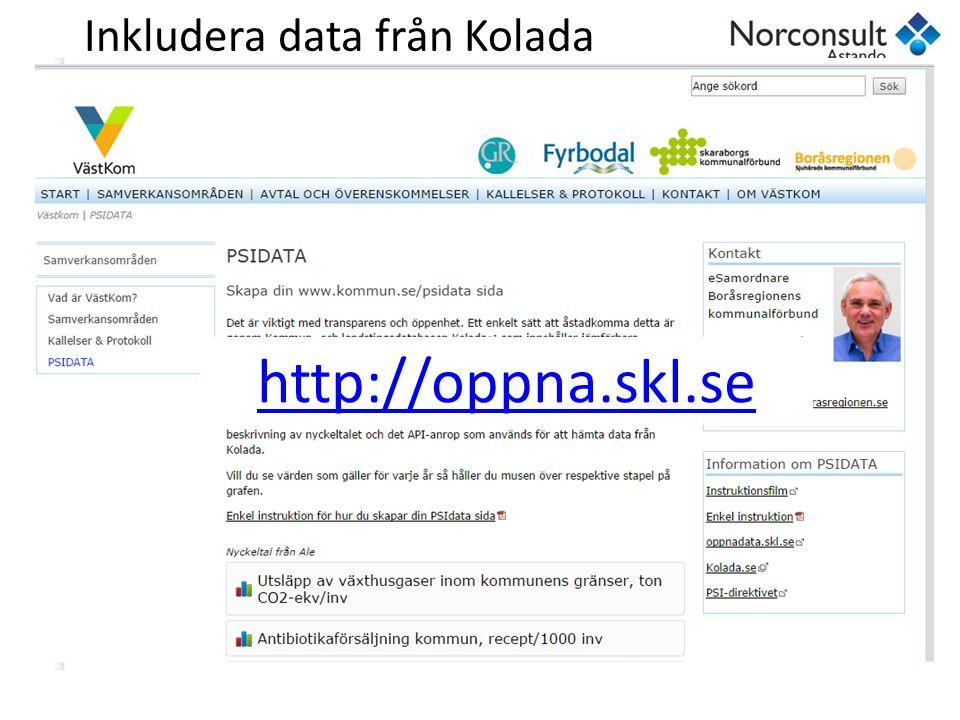 Inkludera data från Kolada