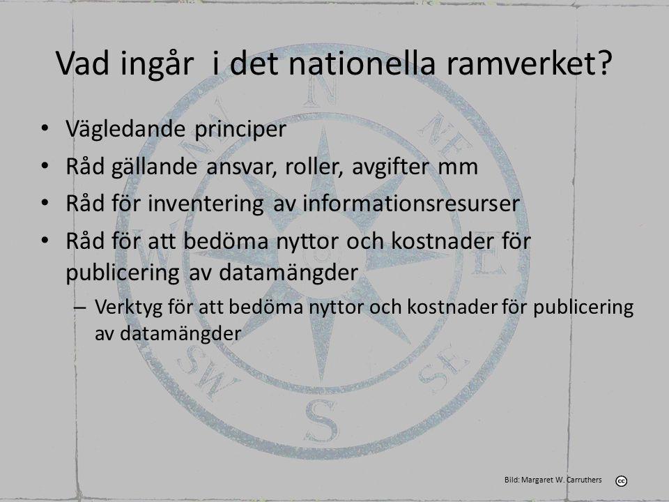 Vad ingår i det nationella ramverket